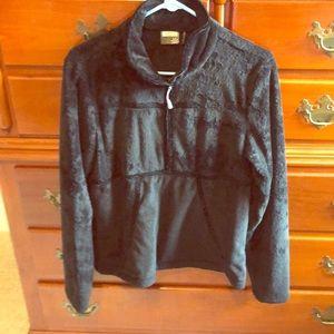 Athleta pullover w velvet trim